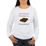 Christmas Chocolate Women's Long Sleeve T-Shirt
