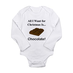 Christmas Chocolate Long Sleeve Infant Bodysuit