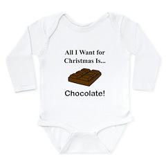 Christmas Chocolate Long Sleeve Infant Bodysuit