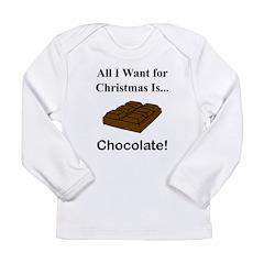 Christmas Chocolate Long Sleeve Infant T-Shirt