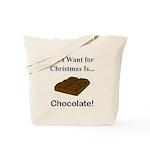 Christmas Chocolate Tote Bag