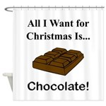 Christmas Chocolate Shower Curtain