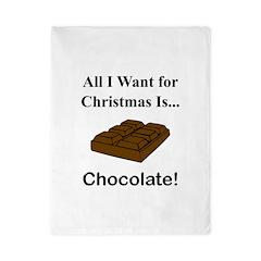 Christmas Chocolate Twin Duvet