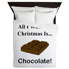 Christmas Chocolate Queen Duvet