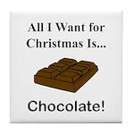 Christmas Chocolate Tile Coaster