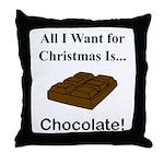Christmas Chocolate Throw Pillow