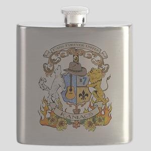 kaniac crest english tshirt Flask