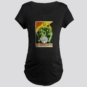 International Brigades Maternity Dark T-Shirt