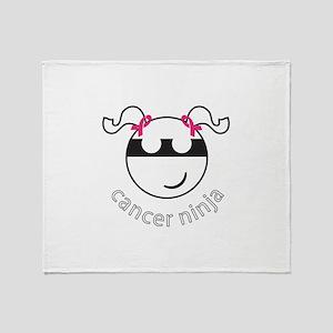Cancer Ninja Throw Blanket