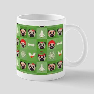 Christmas Pugs, Bones, Mistletoe Mug
