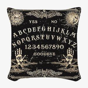 Vintage Ouija Talking Board Woven Throw Pillow