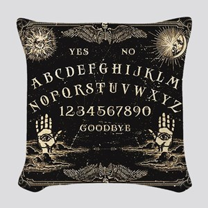 Vintage Ouija Talking Board Woven Throw Pillow