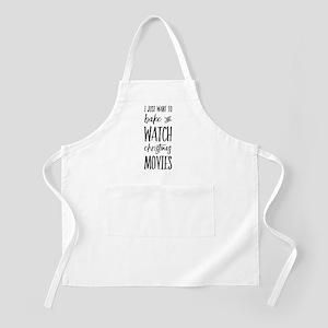 Bake and Watch Christmas Movies Light Apron