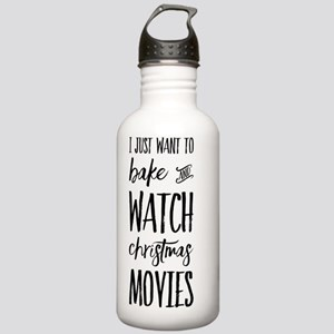 Bake and Watch Christm Stainless Water Bottle 1.0L