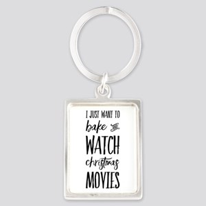Bake and Watch Christmas Movies Keychains