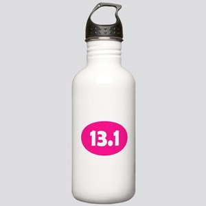 Pink 13.1 Oval Stainless Water Bottle 1.0L