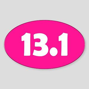 Pink 13.1 Oval Sticker