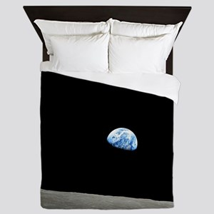 Apollo 8 1968 Earth From Moon Queen Duvet