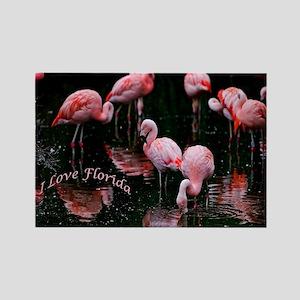 Pink Flamigos I Love Florida Magnets