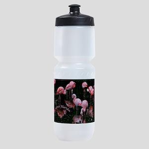 Pink Flamigos I Love Florida Sports Bottle