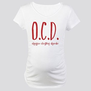 Christmas Obsessed Maternity T-Shirt