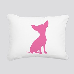 Pink Chihuahua - Rectangular Canvas Pillow