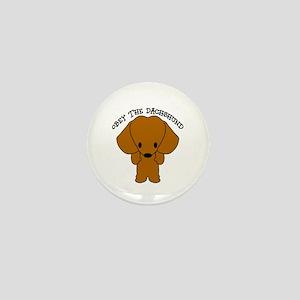 Obey The Dachshund Mini Button
