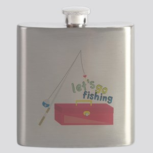 Lets Go Fishing Flask
