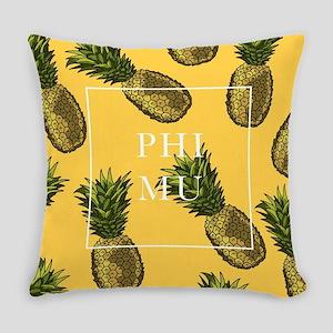 Phi Mu Pineapples Everyday Pillow