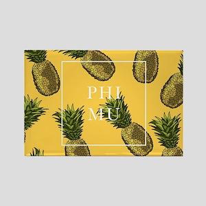 Phi Mu Pineapples Rectangle Magnet
