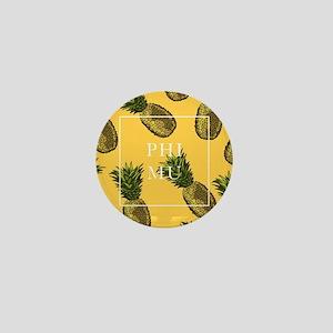 Phi Mu Pineapples Mini Button