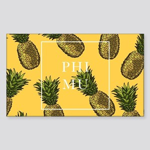 Phi Mu Pineapples Sticker (Rectangle)