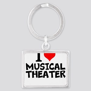 I Love Musical Theater Keychains