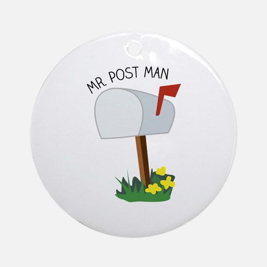 Mr, Post Man Ornament (Round)