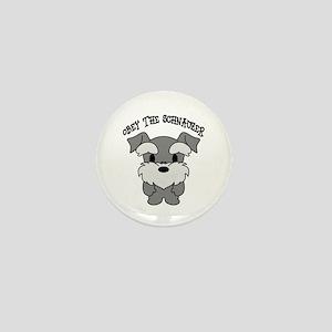 Schnauzer Dogs Rule Mini Button