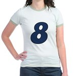 Adorable 8 Jr. Ringer T-Shirt