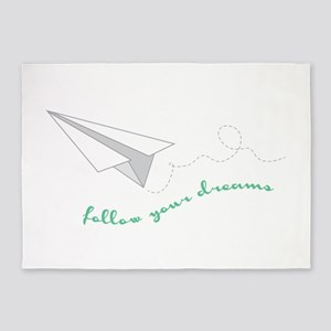 Follow Your Dreams 5'x7'Area Rug