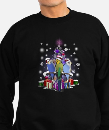 Budgie in Christmas Style Sweatshirt
