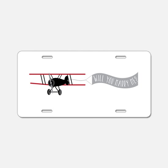 Marry Sky Sign Aluminum License Plate