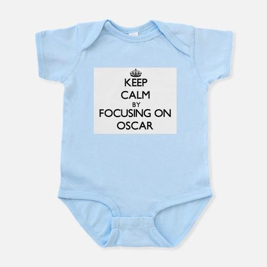 Keep Calm by focusing on Oscar Body Suit