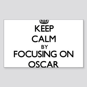 Keep Calm by focusing on Oscar Sticker