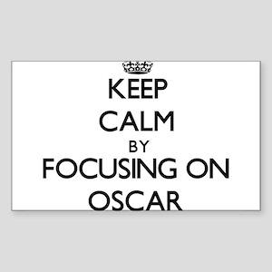 Keep Calm by focusing on Oscar Sticker