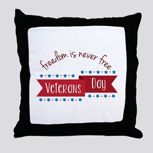 Freedom Veterans Throw Pillow