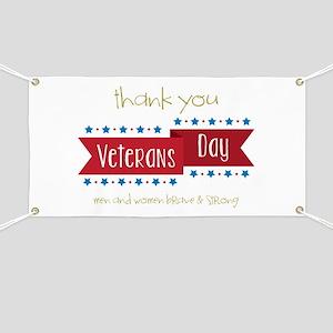 Thank You Veterans Banner