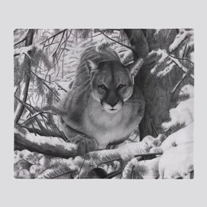 Cougar Design Throw Blanket