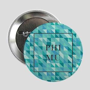 "Phi Mu Geometric 2.25"" Button (10 pack)"