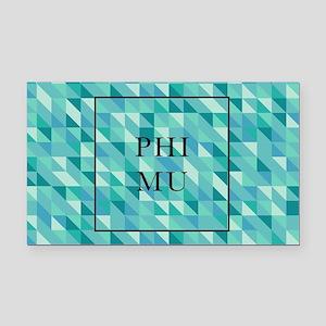 Phi Mu Geometric Rectangle Car Magnet