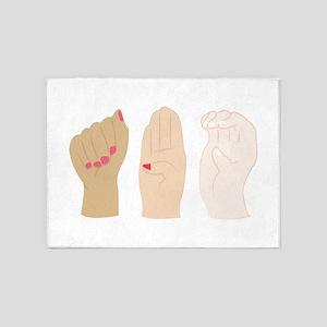 Hand Gestures 5'x7'Area Rug