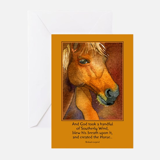 Golden Horse Greeting Cards (Pk of 10)