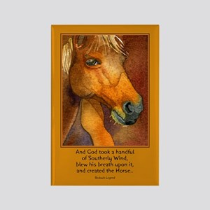 Golden Horse Rectangle Magnet
